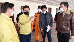 이철우 도지사, '코로나19 생활치료센터(안동 인문정신연수원)' 점검